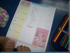 A Day in My Shoes - visual schedule of a 1st grade classroom at an American school in Morocco