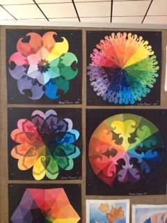 Color Wheel Assignment Student Mixed Tints And Shades They Created A Circle Then Folded