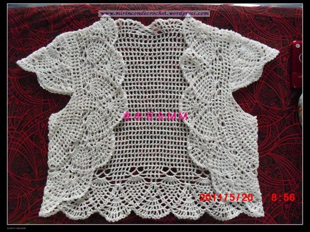 Bolero en una sola pieza….Divino!!! | Mi Rincon de Crochet