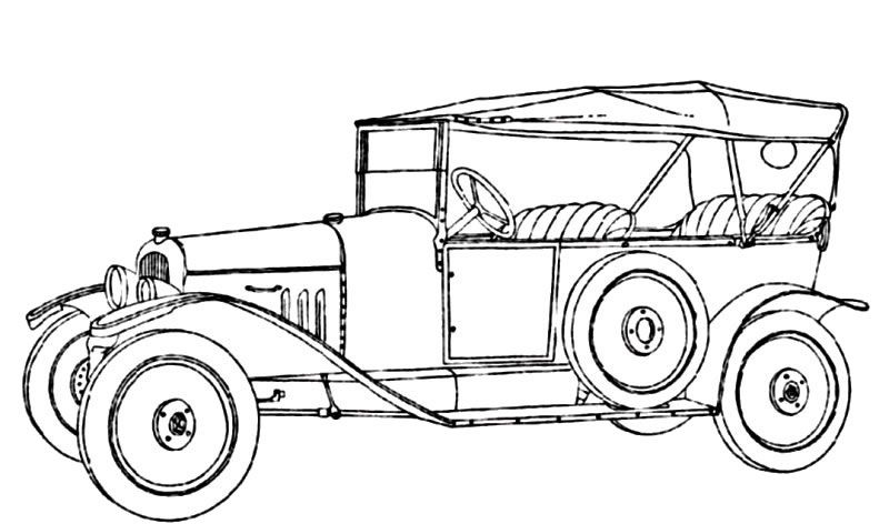 Vintage Cars 22 Adult Coloring Pages