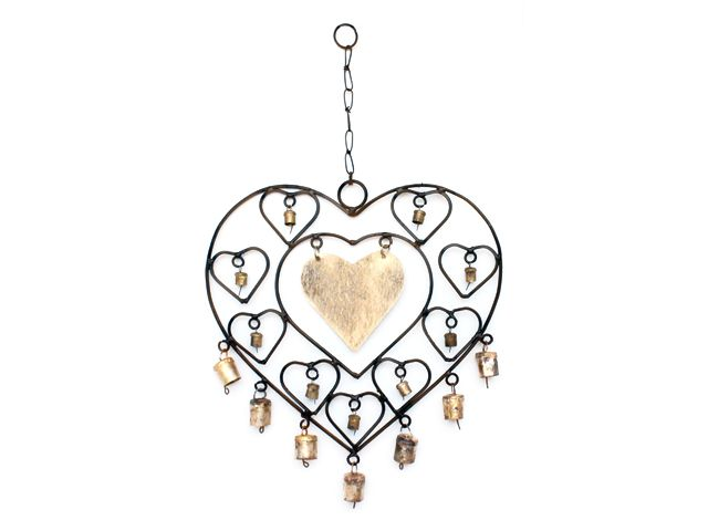 Heart Wind Chime Wall Hanging  Rs.375/-