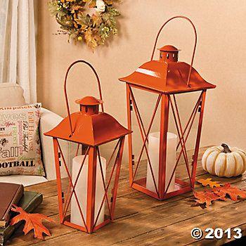 Orange Lanterns via wwworientaltrading (Also have other colors
