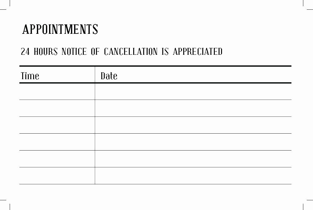 Appointment Reminder Cards Template Beautiful Doctor Appointment Letter Template Slip Sample Card Appointment Cards Card Templates Free Card Template