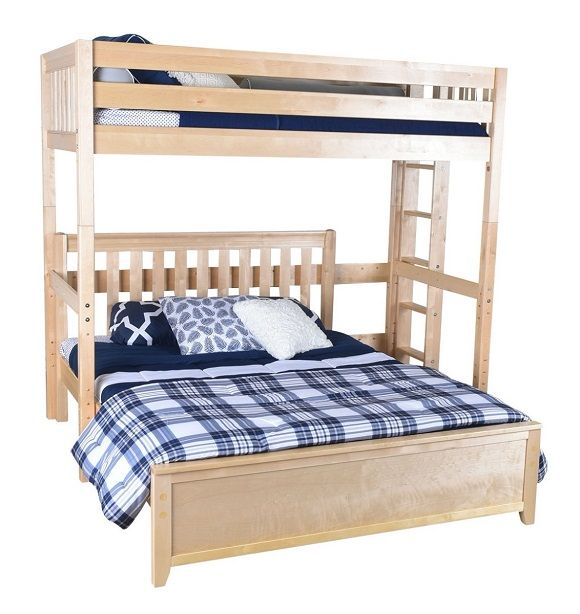 Becks Twin Over Queen L Shaped Loft Bed Loft Bed Queen Loft Beds Twin Size Loft Bed