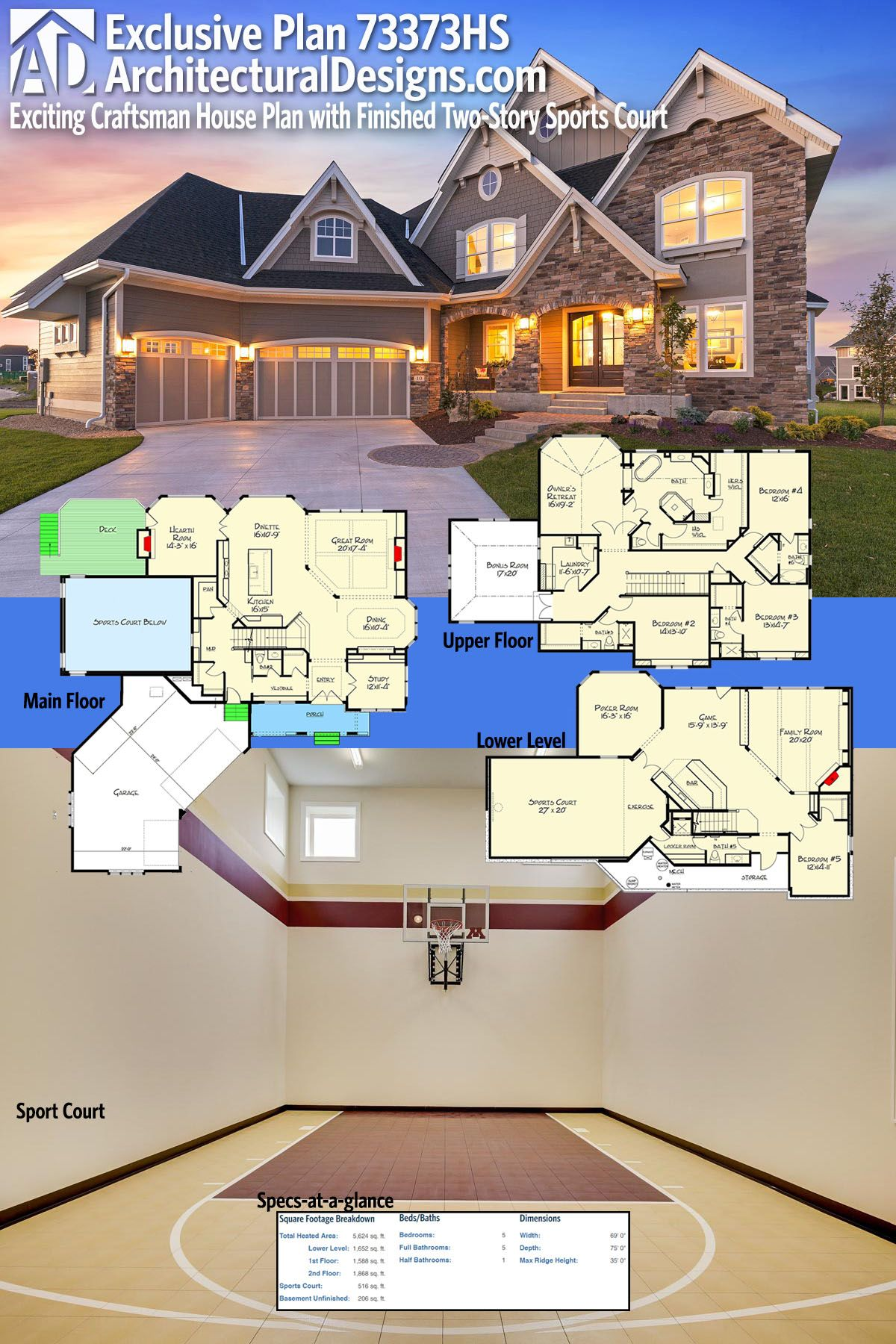 Introducing Architectural Designs Exclusive House Plan 73373HS