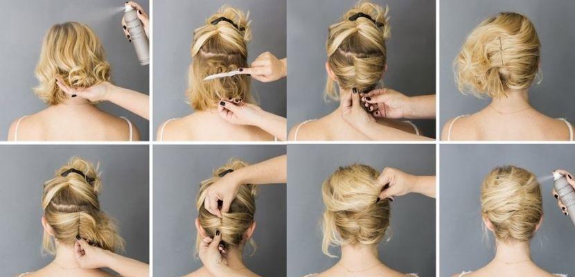 peinados recogidos para cabello muy corto paso a paso - Buscar con
