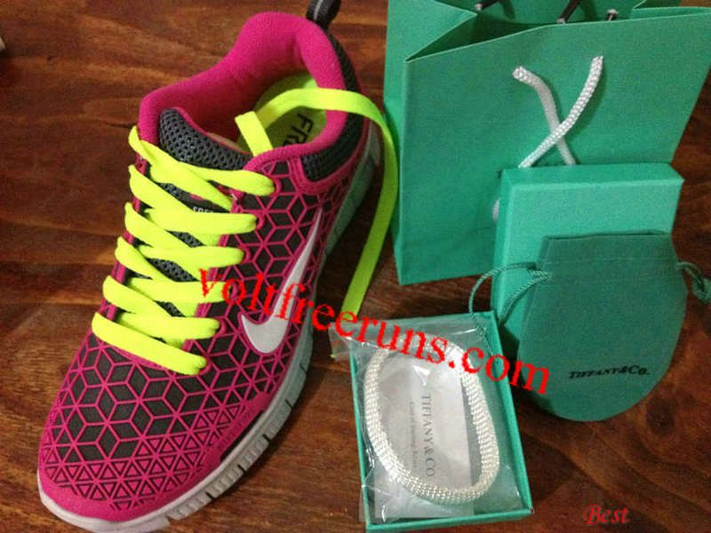 online retailer 789fa 0329f  Womens Nike Free 6.0 Rose Pink White Volt Lime Green Lace and Tiffany CO  Bracelet Shoes  best