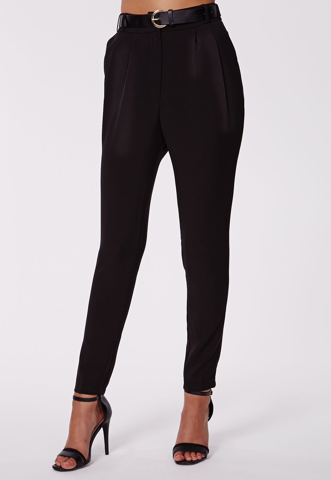 Be the master of effortless dressing with these belted cigarette trousers. Made from a soft touch fabric that drapes in all the right areas, classic and tailored. These trousers are exactly what your wardrobe's been missing and with a fit t...