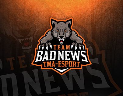 """Check out new work on my Behance portfolio """"Wolf mascot"""
