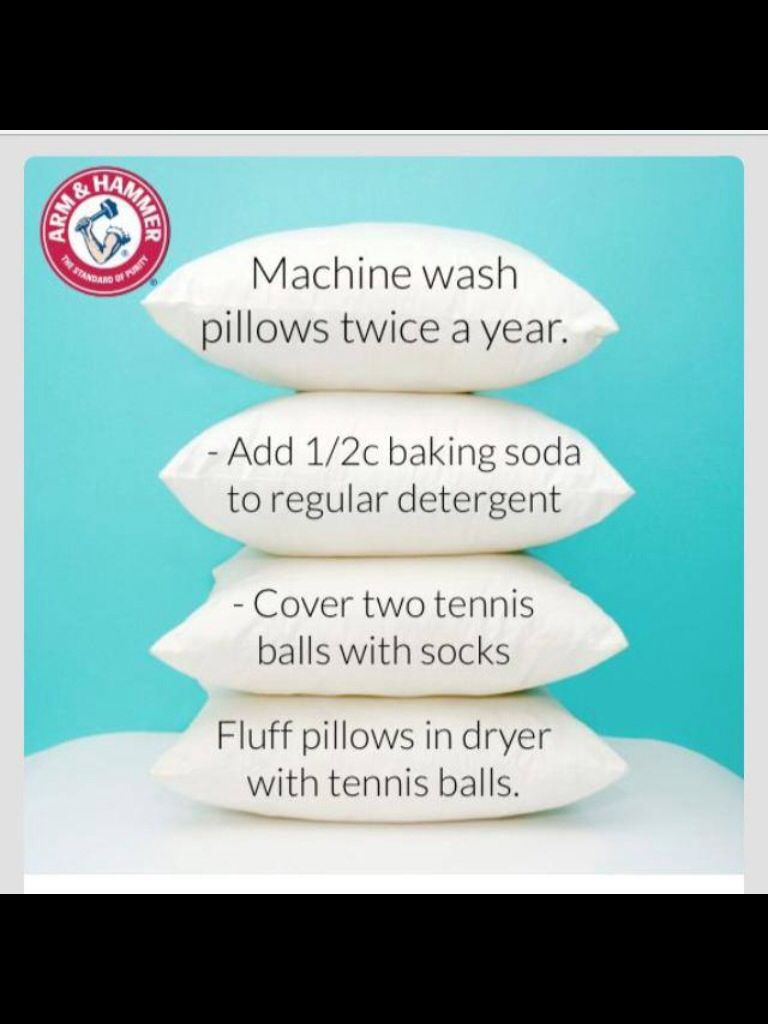 Wash your pillows Cleaning hacks, Helpful hints