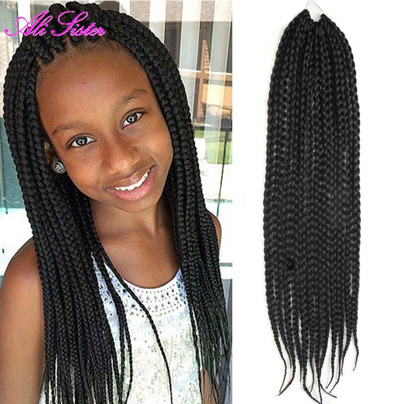 Find More Bulk Hair Information About Crochet Braid Hair Box Braids Hair Crochet Twist Hair Dreadloc Black Girl Braids Black Kids Hairstyles Little Girl Braids