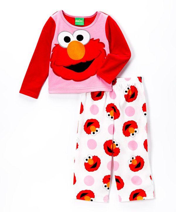 148f657304 Look at this Sesame Street Pink Sesame Street Elmo Pajama Set - Toddler on   zulily today!