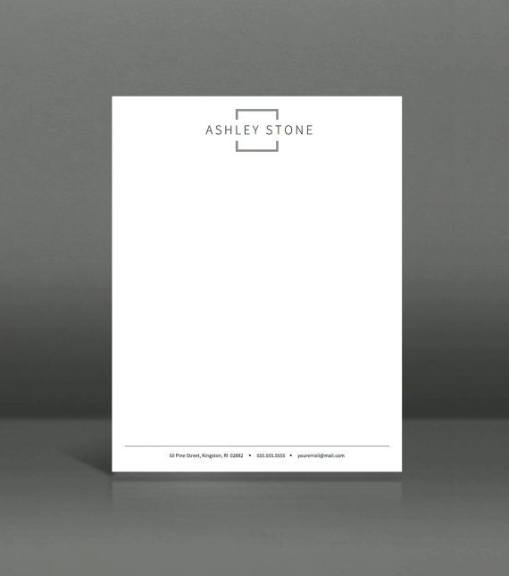 letterhead template printable letterhead in by landeddesignstudio