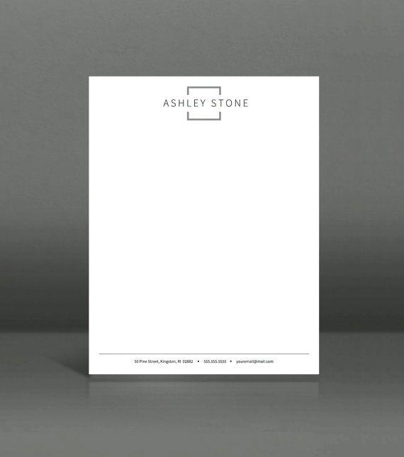 Letterhead Template Printable Letterhead in by LandedDesignStudio