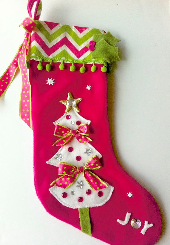gorgeous christmas stocking have to mention again how jealous i am that some people are so crafty - Girls Christmas Stocking