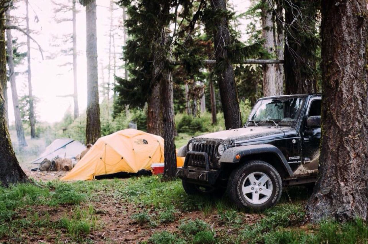 camping and jeeps