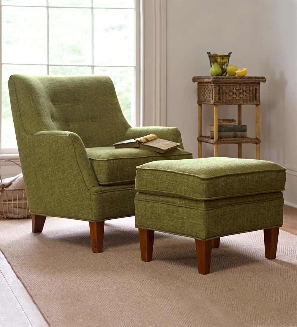 Emily Upholstered Chair And Ottoman Set  Chairs & Rockers  Chair