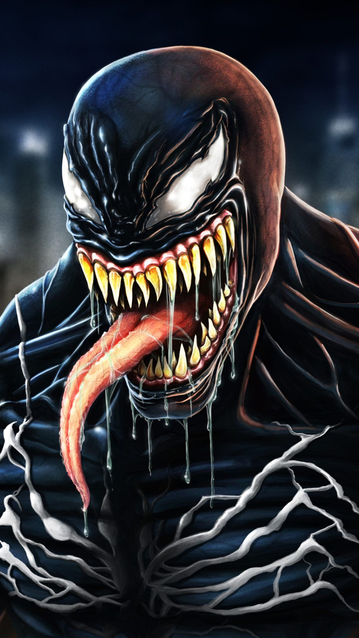 Top Venom Wallpapers For Your Pinterest Boards Venom Wallpaper Marvel Marvelcomics Spiderman Pinterest Pins Black Venom Movie Venom Venom Character