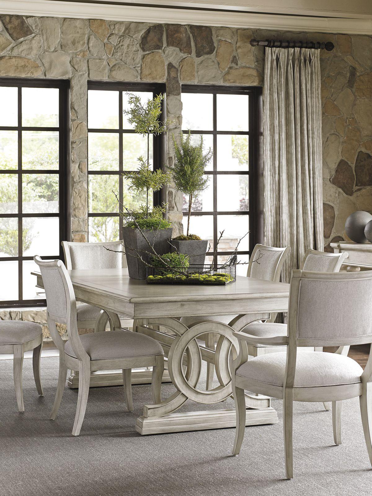 Oyster Bay Montauk Rectangular Dining Table | Lexington Home Brands  DIMENSIONSu2026