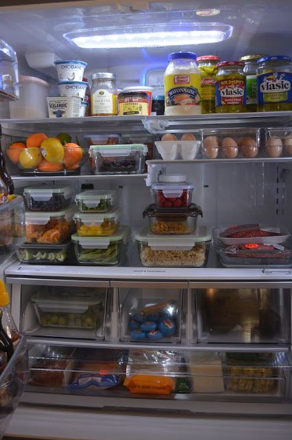 Delightful Order Glass Containers In The Kitchen Fridge