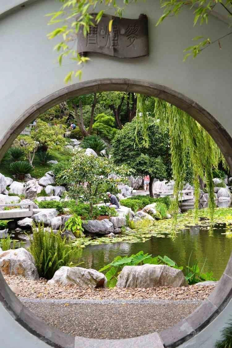 jardin japonais zen classique respirant nature ambiance