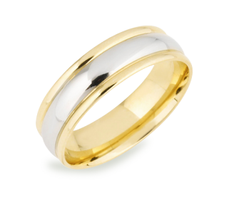 Have the best of both worlds the richness of classic yellow gold