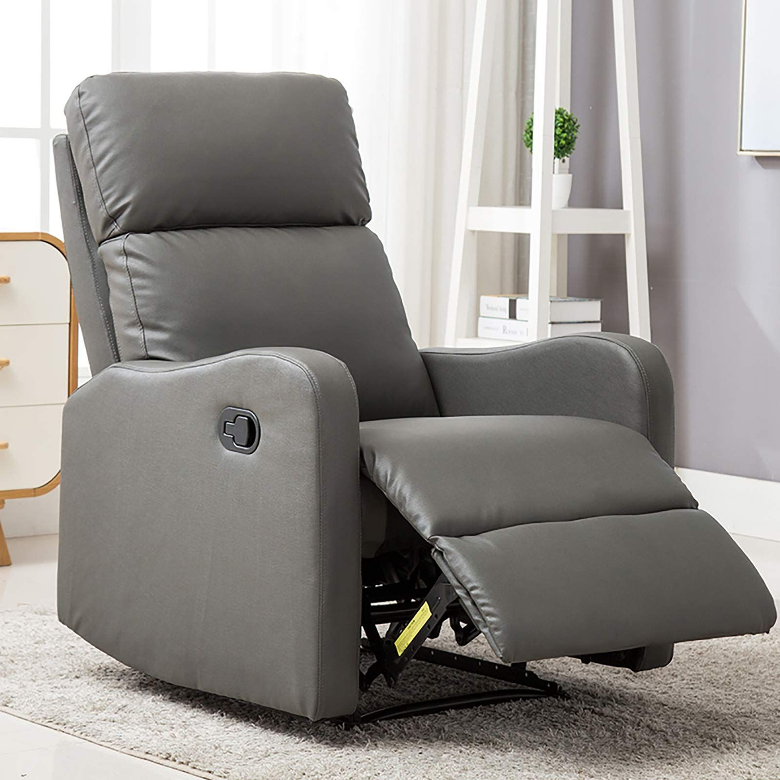 ANJ Chair Contemporary Leather Recliner Chair for Modern