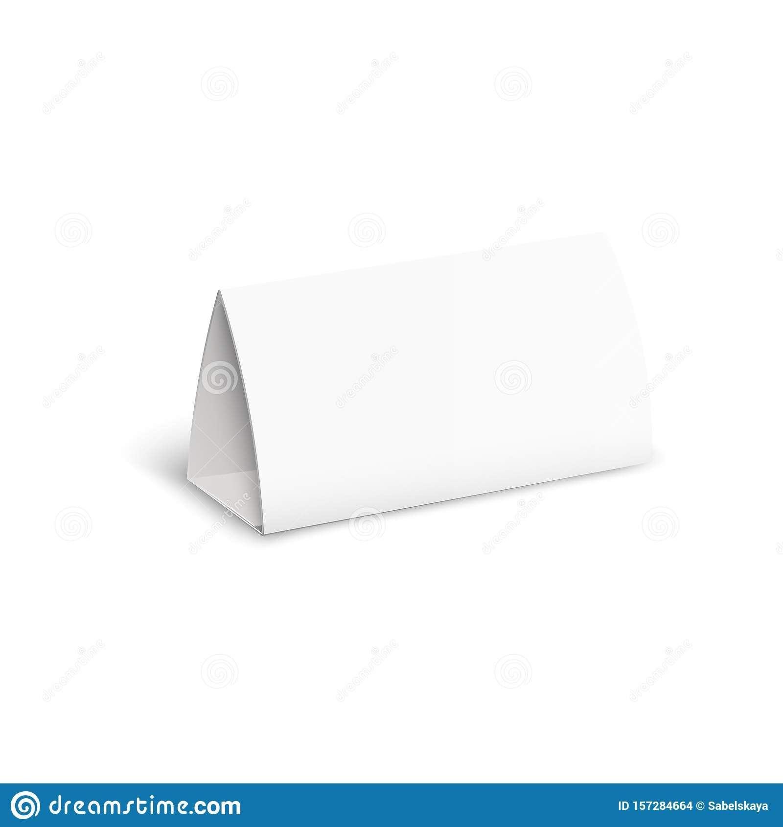 Tent Card Brochure Mockup Blank Isolated Paper Stand With Regarding Card Stand Template Business Professional Paper Stand Tent Cards Recipe Cards Template