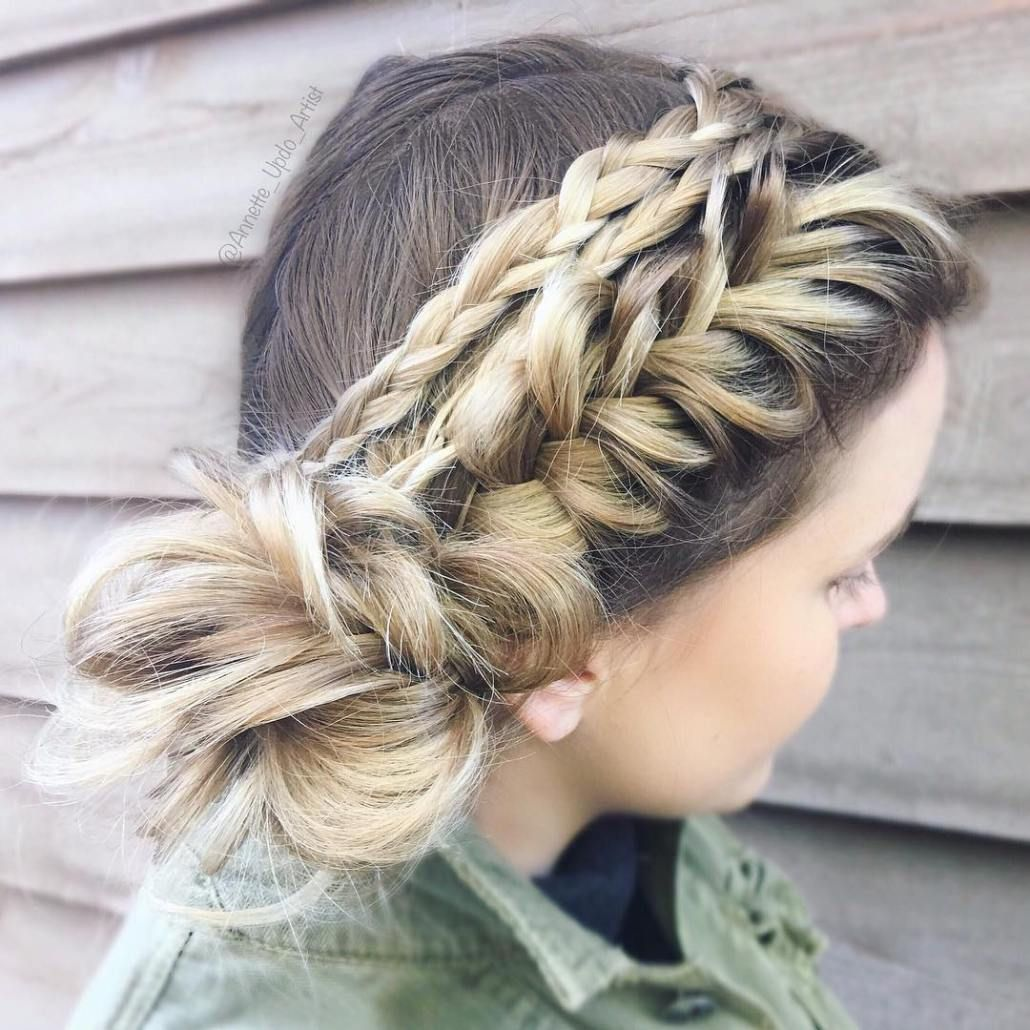 40 Casual and Formal Side Bun Hairstyles for 2020 | Side bun hairstyles, Braided bun styles ...