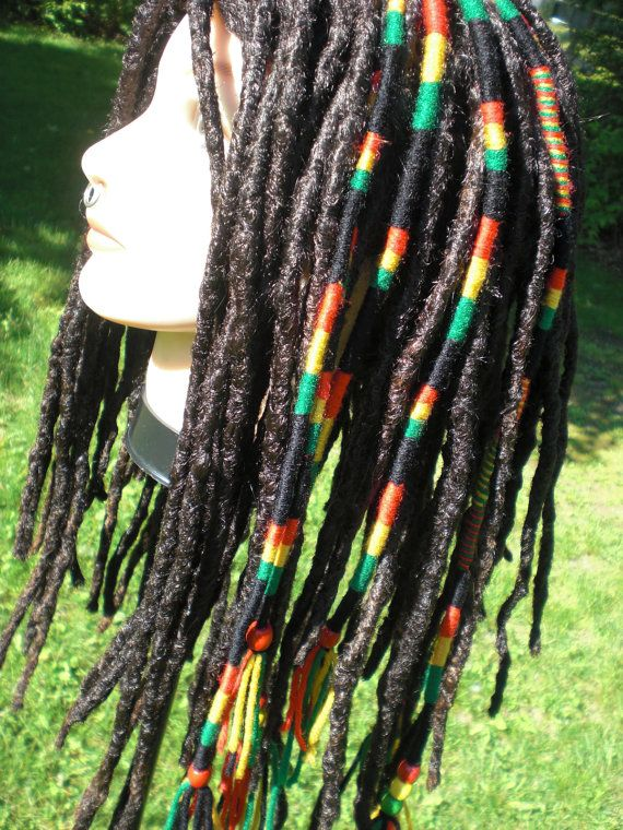 Ready to ship rasta color stripe hair wrap extension yarn by mraur ready to ship rasta color stripe hair wrap extension yarn by mraur pmusecretfo Image collections