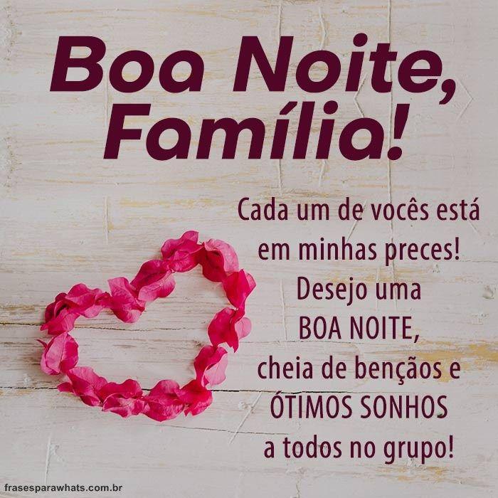 Boa Noite Grupo De Família Flavia