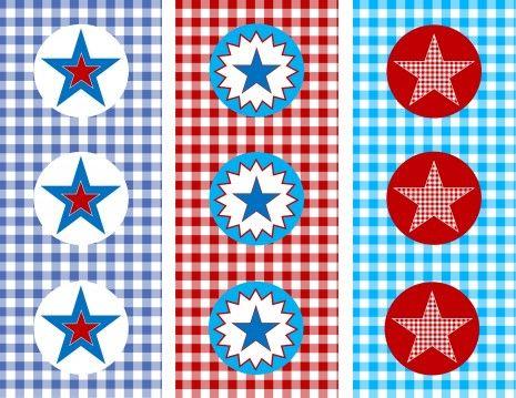 Free Memorial Day Printable Party Circles! #memorialday #freeprintables