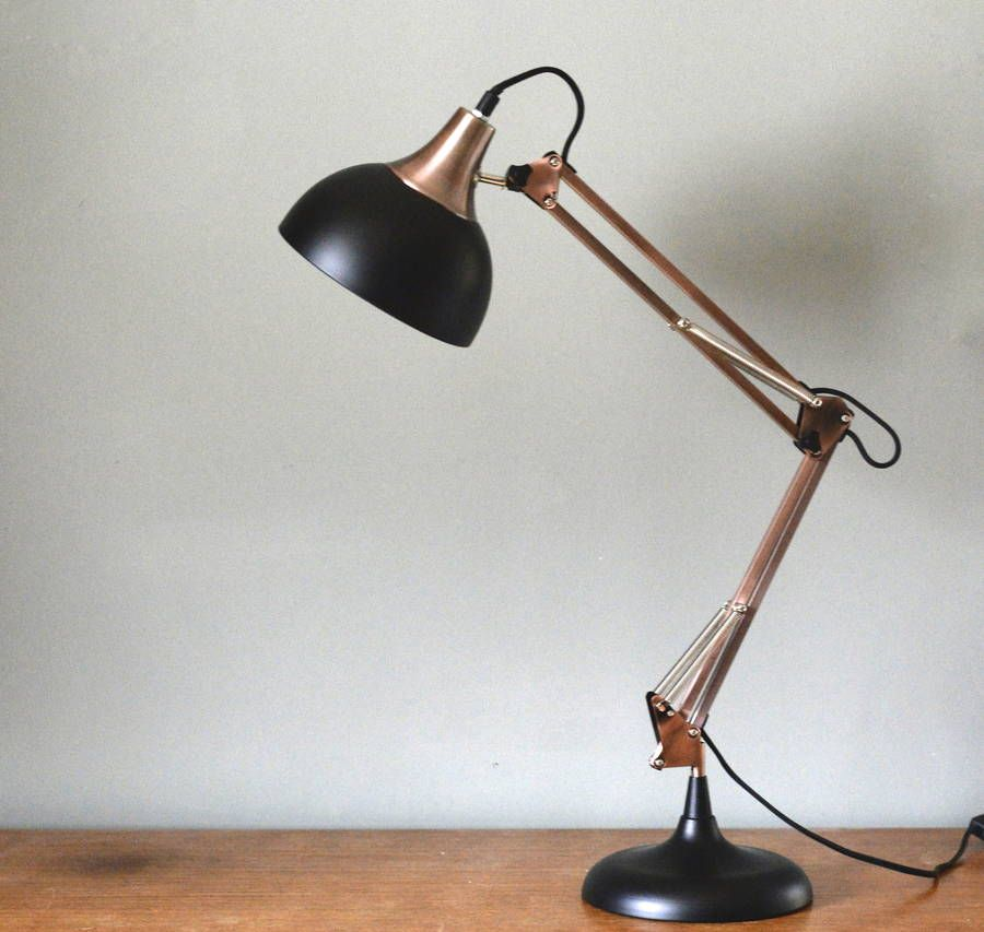Funky Desk Lamp large copper and black desk lamp | black desk lamps, desk lamp and