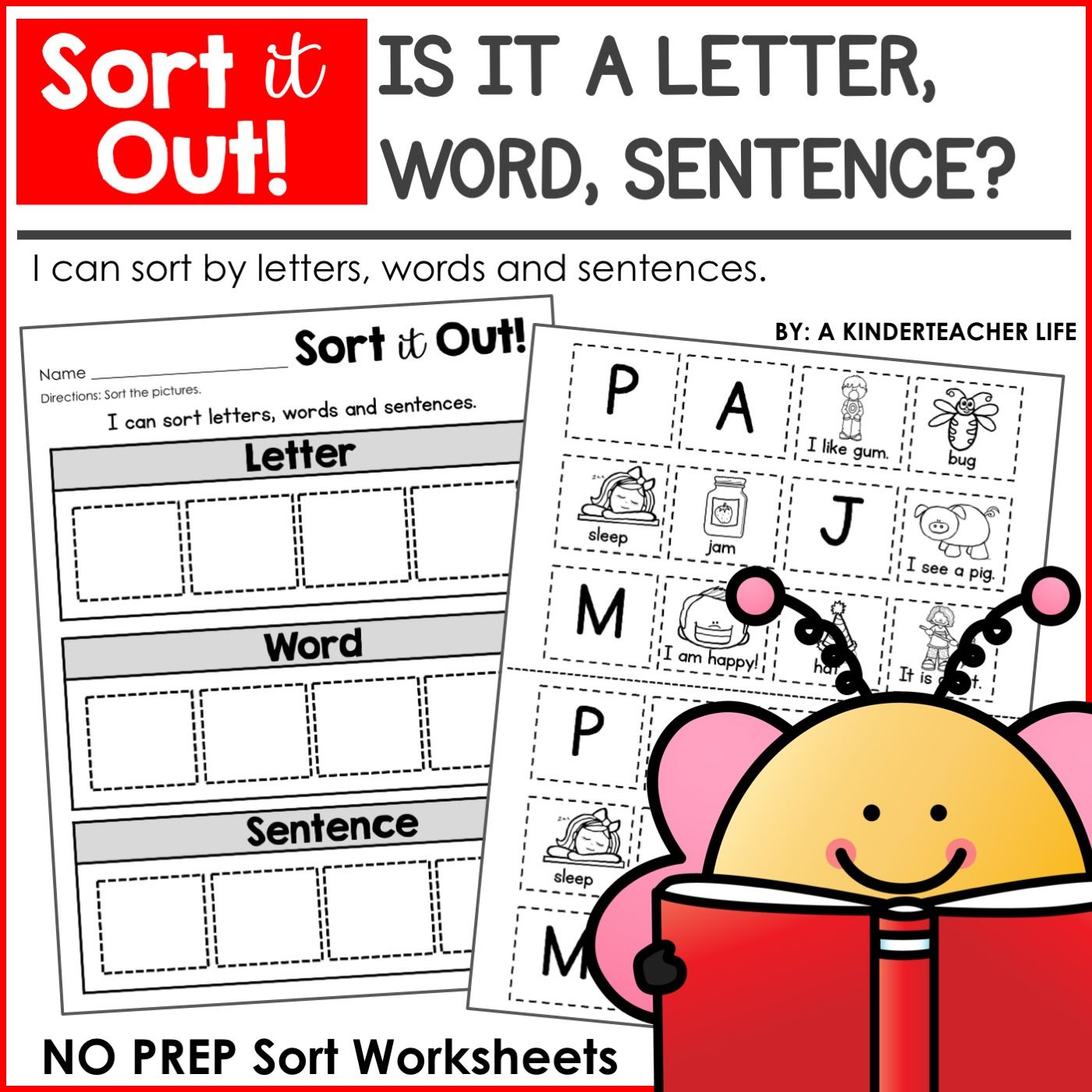 Sorting Worksheets For All Content Areas Freebie Included