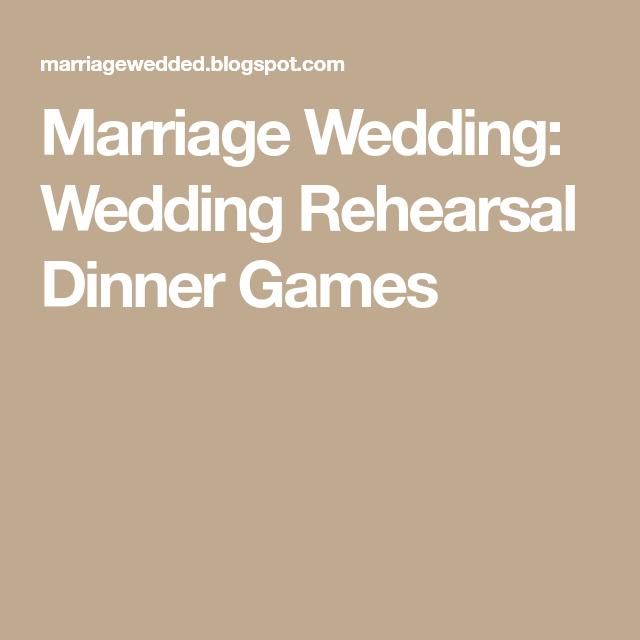 Marriage Wedding: Wedding Rehearsal Dinner Games | Woodland Wedding ...