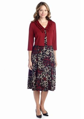 0ff4535250577 DN Designs by Danny Nicole Petite Three Quarter Sleeve Jacket Dress ...