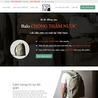 TEMPLATE BLOGSPOT LANDING PAGE BÁN HÀNG | thiết kế template blogspot ...