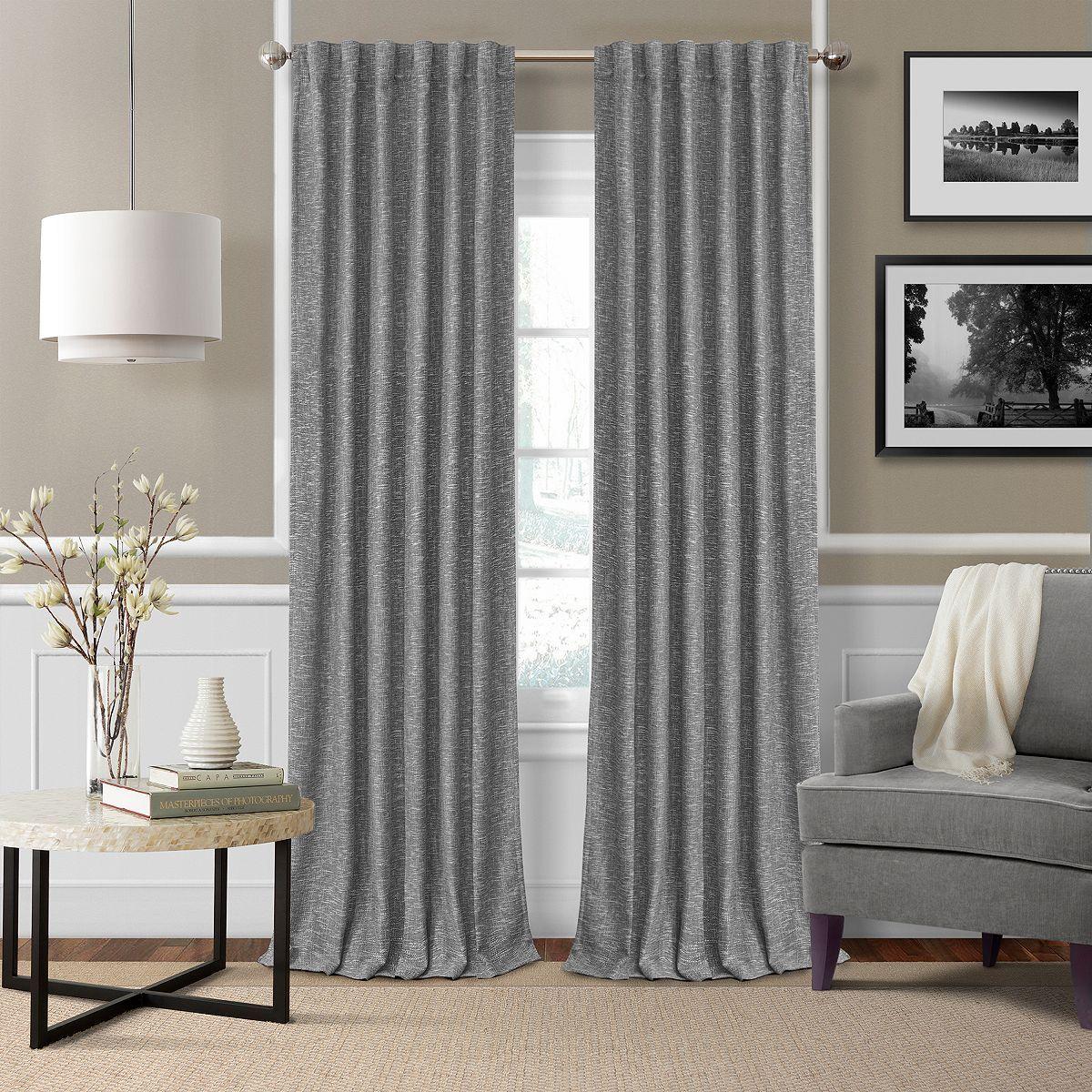 Elrene Home Fashions Colton Textured Blackout Curtain Collection In 2020 Elrene Home Fashions Grey Curtains Living Room Living Room Drapes