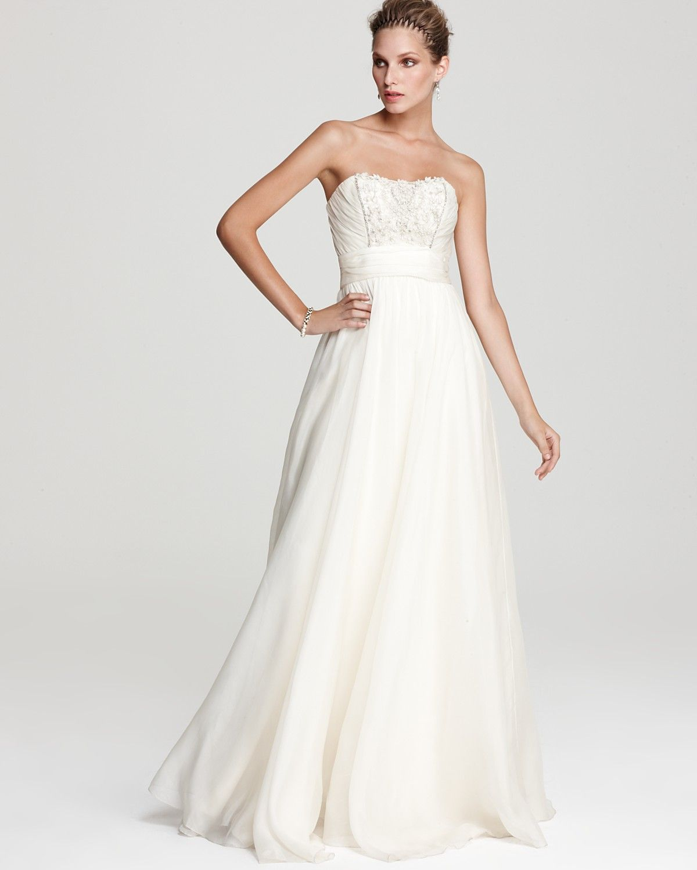 Theia strapless organza ball gown dresses pinterest strapless