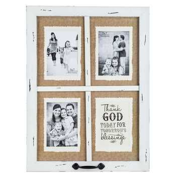Vintage White Blessings Window Collage Frame in 2018 | baby 2 ...