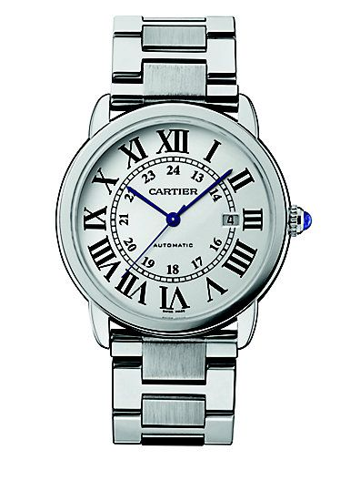 594422eabd8 Cartier Stainless Steel Extra-Large Round Bracelet Watch