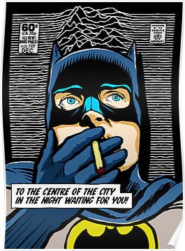 Post-Punk Super Friends - Bat by butcherbilly