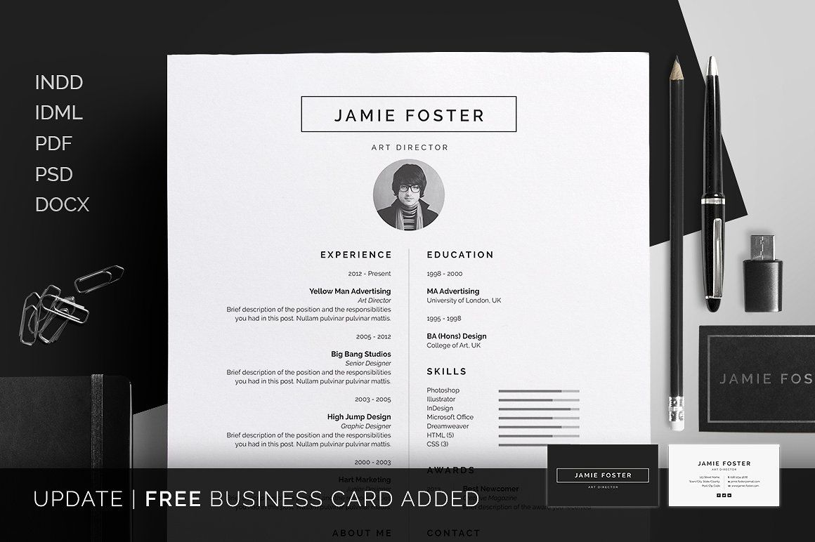 Clean Resume Word Template Elegant Page Designs Are Easy To Use
