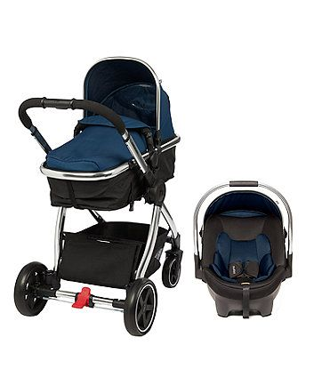 mothercare 4-wheel journey chrome travel system - blush ...
