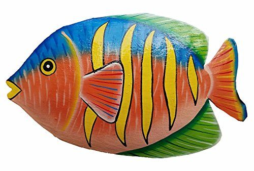 Hand Chiseled And Painted Tropical Metal Art Wall Decor F Https Www Amazon Com Dp B071v34j72 Ref Cm Sw R Pi Dp Fish Art Metal Fish Wall Art Fish Wall Art