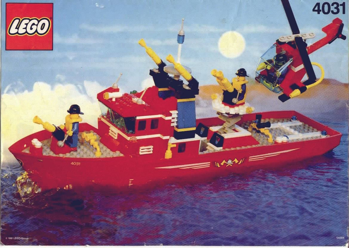 Town Fire Fighter Boat 4031 Lego Instructions Pinterest