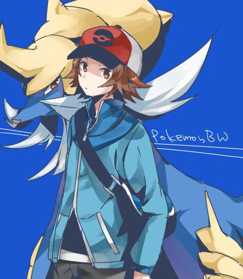 Pokemon bw | Trainer Hilbert(Black) | Pinterest | Pokémon ...