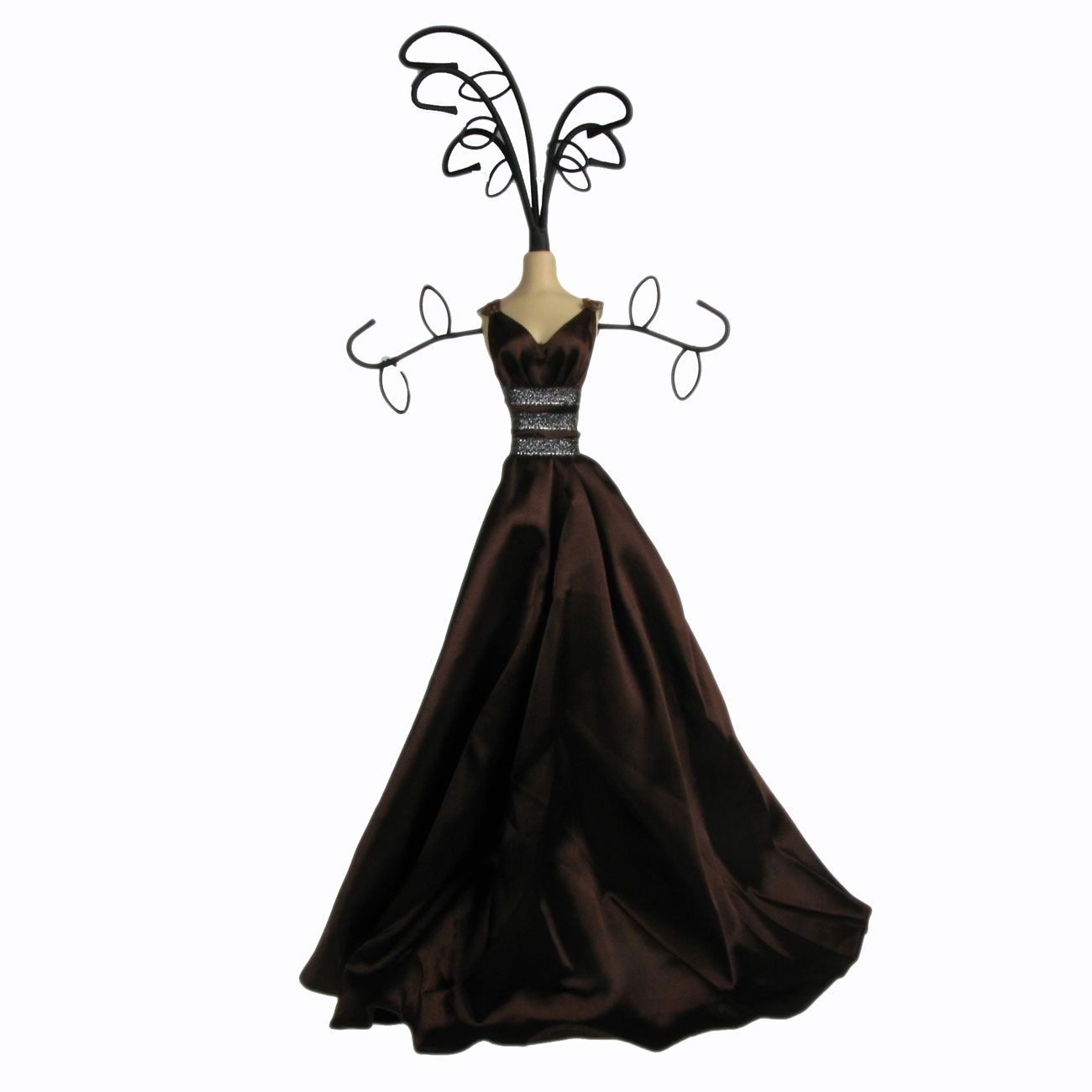 Mannequin Jewellery Display Stand Necklace Holder Lady Figure Dress