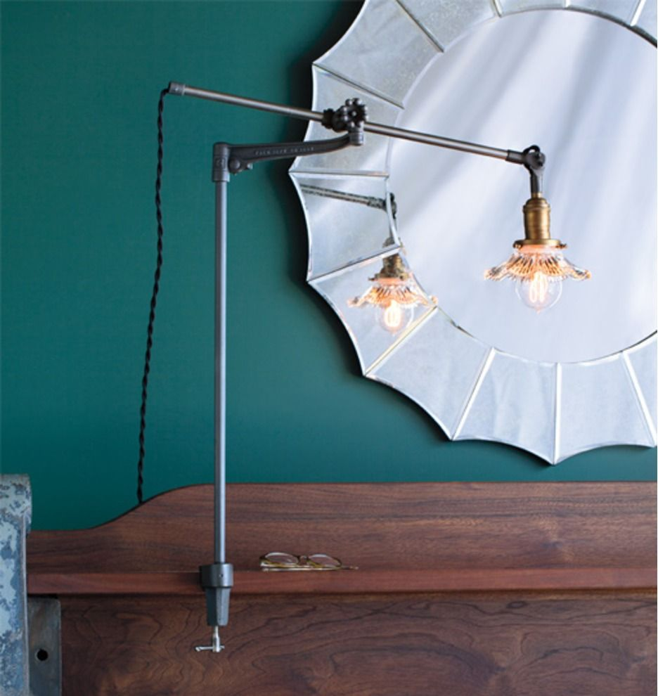The Lone Rock Table Lamp O C White Design Sold At Rejuvenation Com Clamp On Desk Lamp Lamp Desk Lamp