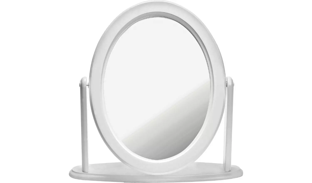 Buy Argos Home Oval Dressing Table Mirror White Mirrors Argos Mirror Table Dressing Table Mirror Dressing Table Mirror White